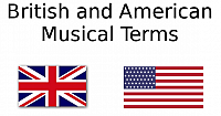 Musical terms in British and American in music theory