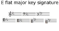 E flat major key signature