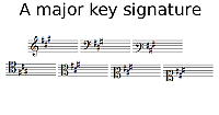 A Major key signature