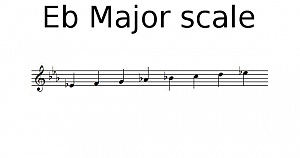 Eb Major scale