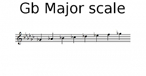 Gb Major scale