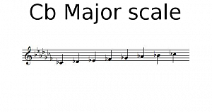 Cb Major scale