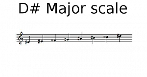 D sharp Major scale