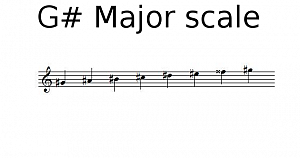 G# Major scale