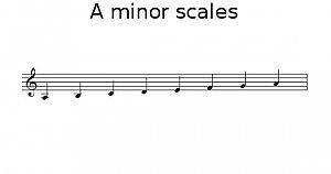A minor scale