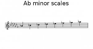 A flat minor scale
