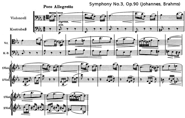 Brahms, Symphony n°3 opus 90