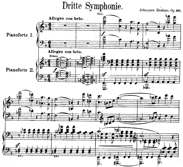 Brahms, Symphony No.3, Allegro con brio