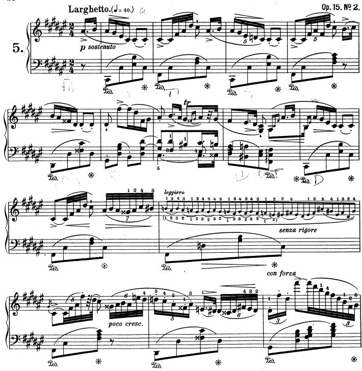 Chopin, Nocturne opus 15 n°2
