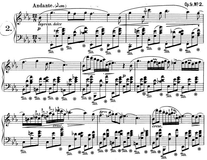Chopin, Nocturne opus 9 n°2