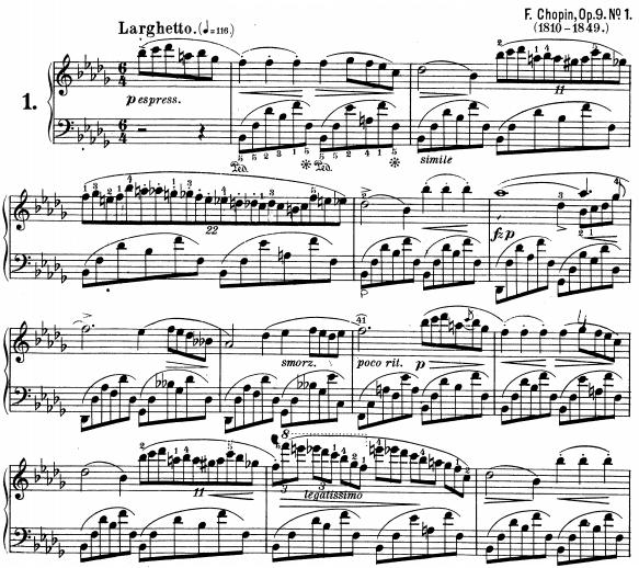 Nocturne opus 9 n°1, Frédéric Chopin
