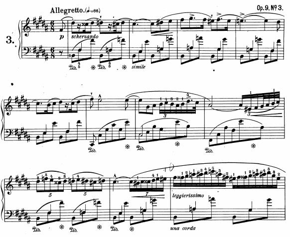 Chopin, Nocturne opus 9 n°3