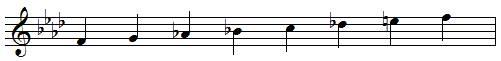 F harmonic minor scale