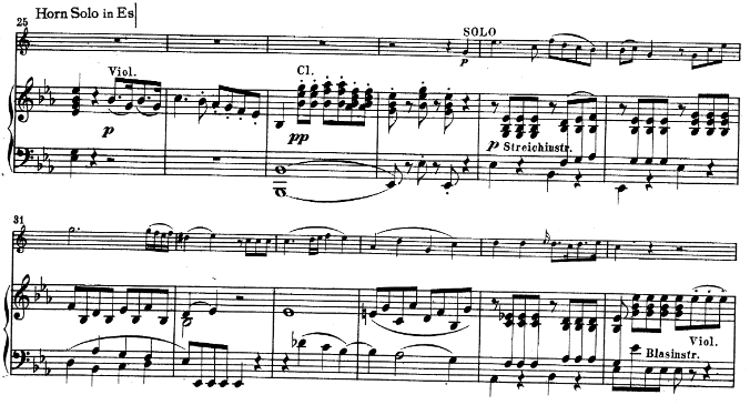 Mozart horn concerto K447, allegro