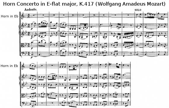 Horn Concerto in E-flat major, K.417 (Wolfgang Amadeus Mozart)