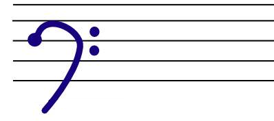 How to draw a baritone clef
