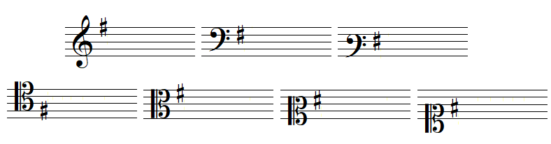 key signature 1 sharp