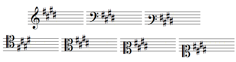 key signature 4 sharps
