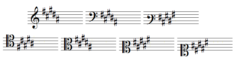 key signature 5 sharps