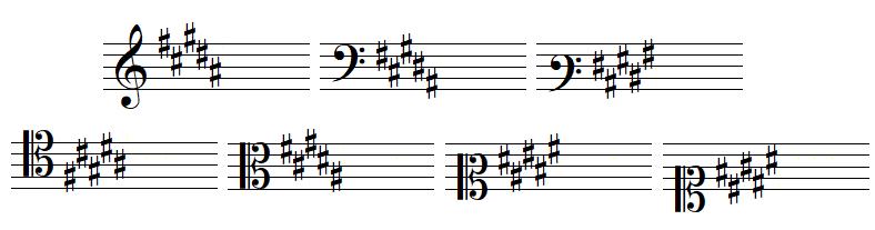 key signature 5 sharps