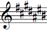 Key signature with seven sharps
