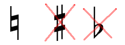 The natural sign cancels the effect of sharps and flats