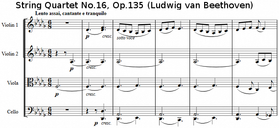 String Quartet No.16, Op.135 (Ludwig van Beethoven)