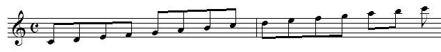 Successive eighth notes
