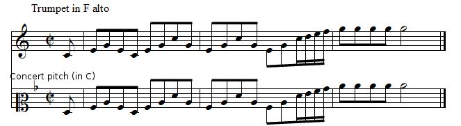 Trumpet in F, Brandenburg Concerto No.2 by J.S. BACH